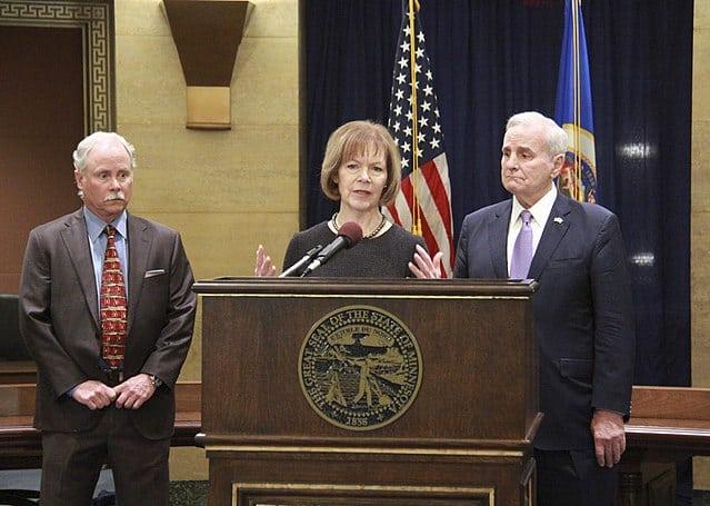 Governor Mark Dayton appoints Lt. Governor Tina Smith to the U.S. Senate