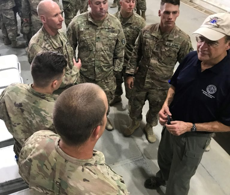 Secretary Hosemann on his visit to Kuwait to meet with Mississippi Guardsmen and Women deployed last Spring