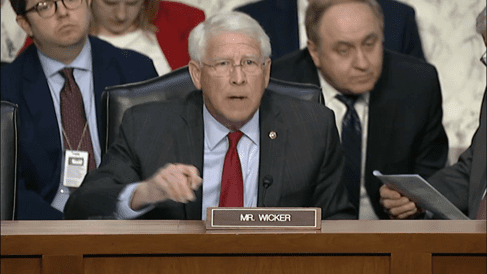 Wicker Votes for Strengthening America's Security in the Middle East